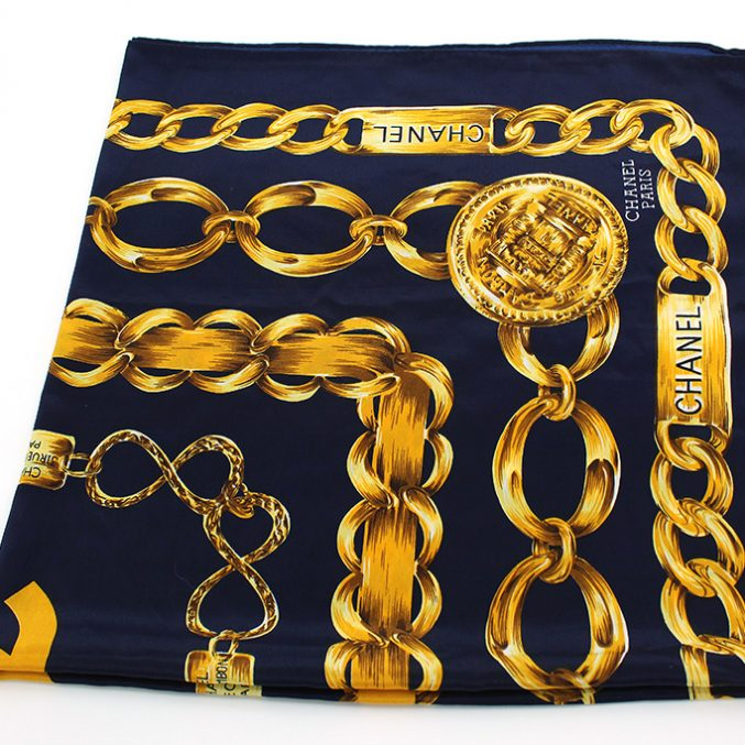 Chanel Designer Vintage Scarf- Posh Bags London