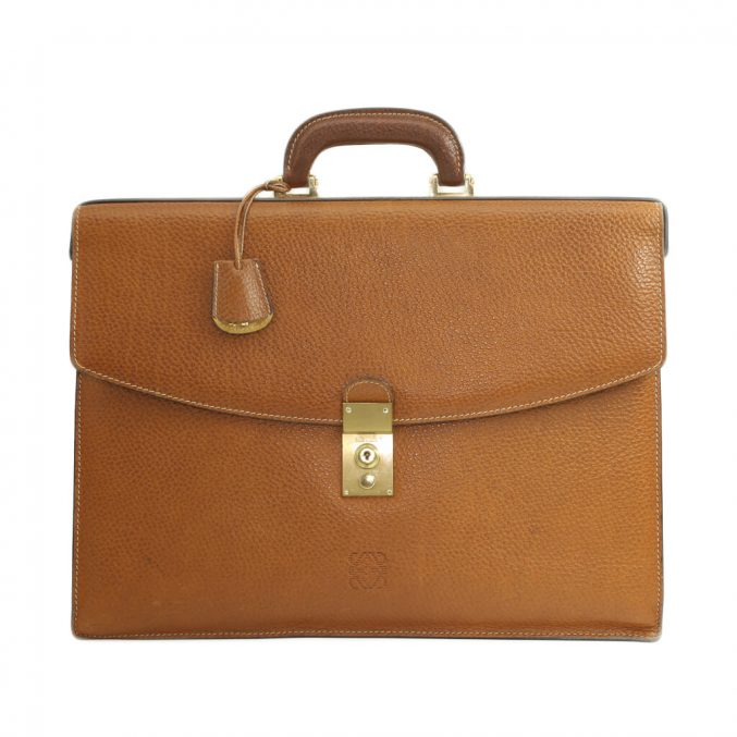 Loewe-Attache-Brown-Calf-Skin-Case-8