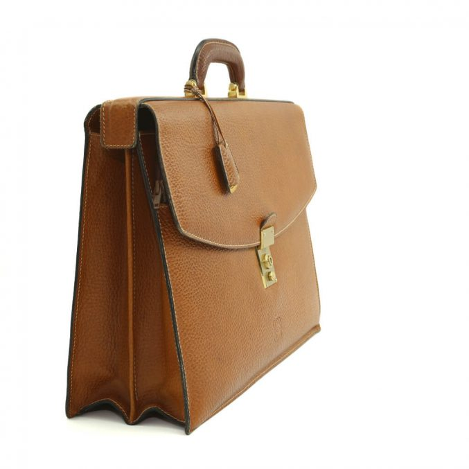 Loewe Attache Brown Case - posh bags