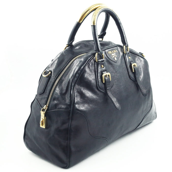 Black Prada Bag - Posh Bags London