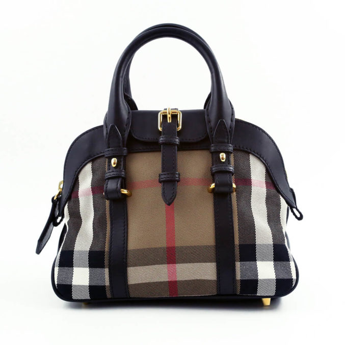 Burberry-Leather-and-Canvas-Bowler-Bag-1