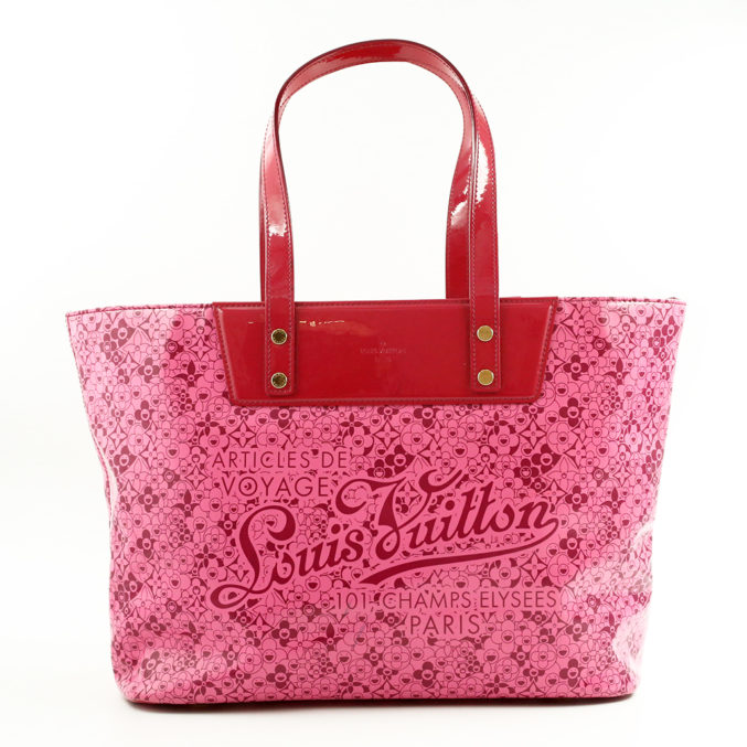 Louis-Vuitton-pink-red-Leather-Cosmic Blossom-tote-Bag-1