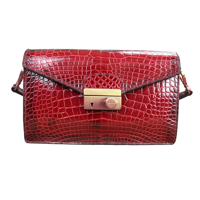 Prada-sound-bag-red-crocodile-skin-1