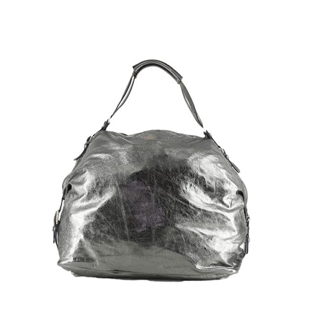 Striking pewter coloured dolce and gabbana handbag
